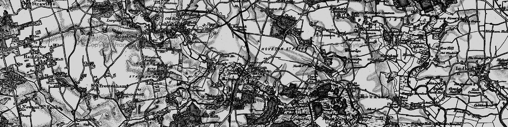 Old map of Hoveton in 1898