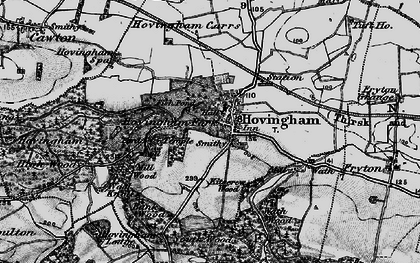 Old map of Hovingham in 1898