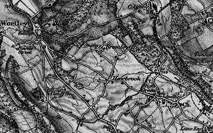Old map of Howbrook in 1896