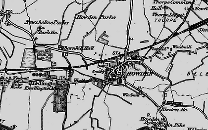 Old map of Howden in 1895
