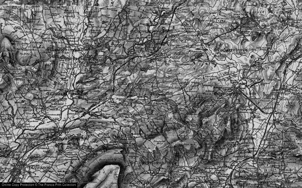 Old Map of Historic Map covering Lane Side in 1898