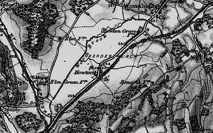 Old map of Worm Brook in 1896