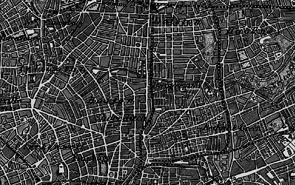 Old map of Hoxton in 1896