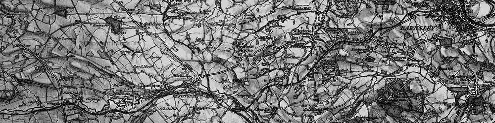 Old map of Hoylandswaine in 1896