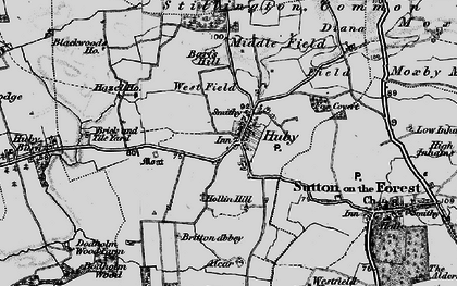 Old map of Barfs Hill in 1898