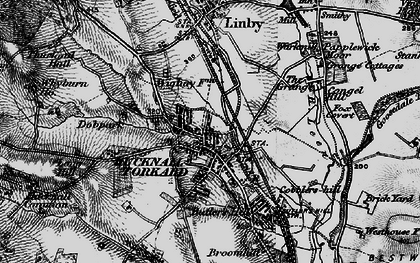 Old map of Hucknall in 1899