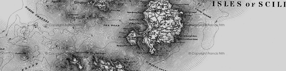 Old map of Woolpack Point in 1896
