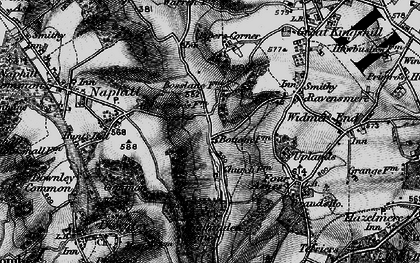 Old map of Hughenden Valley in 1895
