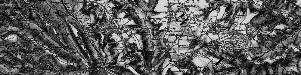 Old map of Hughenden Valley in 1895