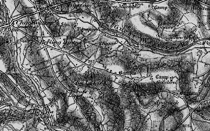 Old map of Hugus in 1895