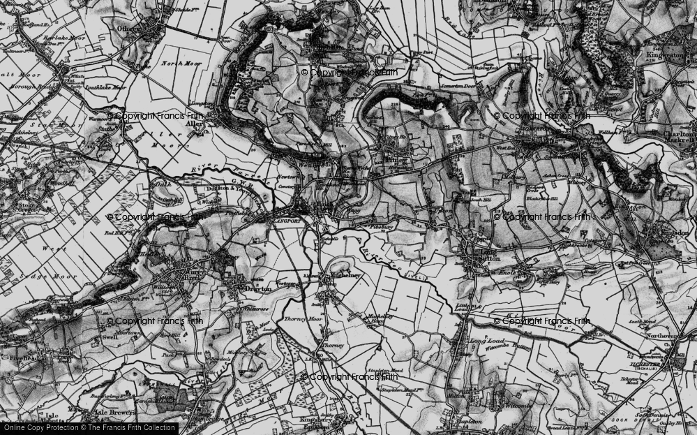 Old Map of Huish Episcopi, 1898 in 1898