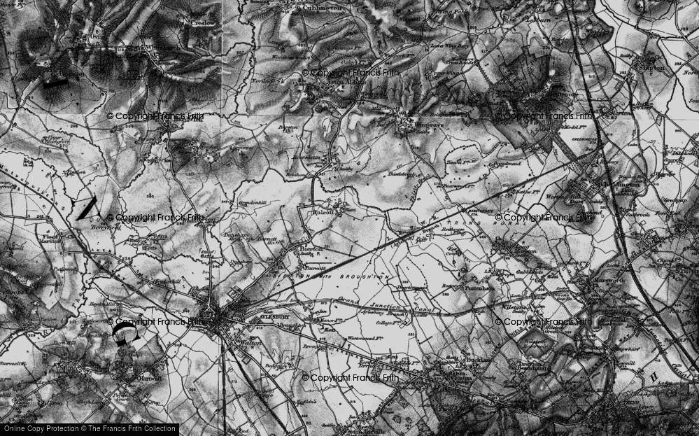 Old Map of Historic Map covering Aylesbury Ring in 1896