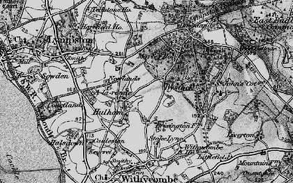 Old map of A-la-Ronde in 1898