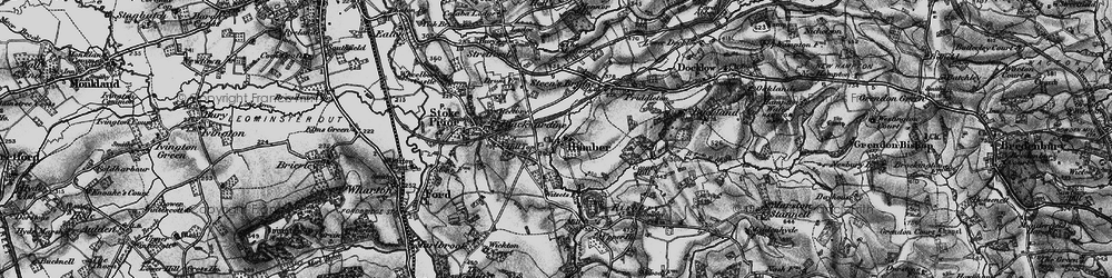 Old map of Witsetts, The in 1899