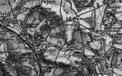 Old map of Hundall in 1896