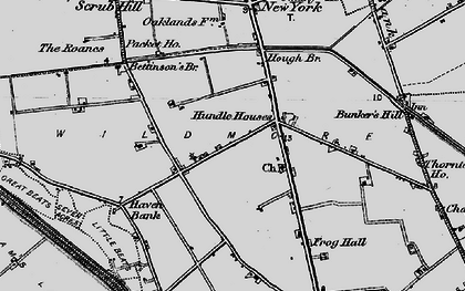 Old map of Wildmore Park in 1898