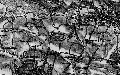 Old map of Hundleton in 1898