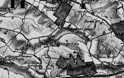 Old map of Baggrave Hall in 1899