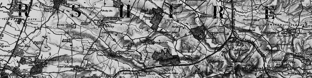 Old map of White's Barn in 1899