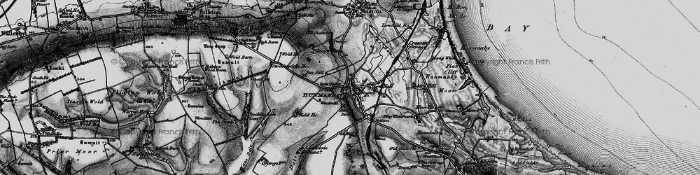 Old map of Hunmanby in 1897