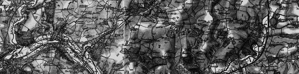 Old map of Hunsdon in 1896