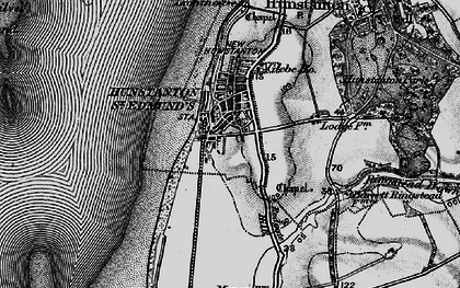 Old map of Hunstanton in 1898