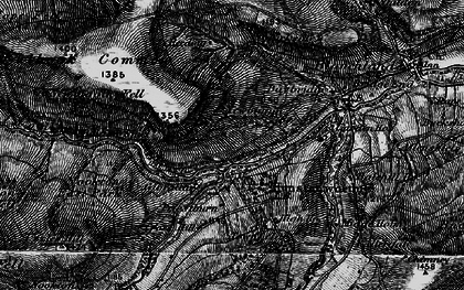 Old map of Hunstanworth in 1898