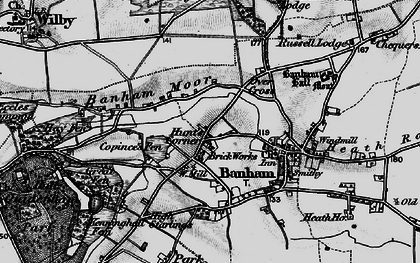 Old map of Banham Moor in 1898