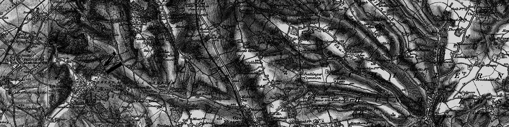 Old map of Woodlands Park in 1895