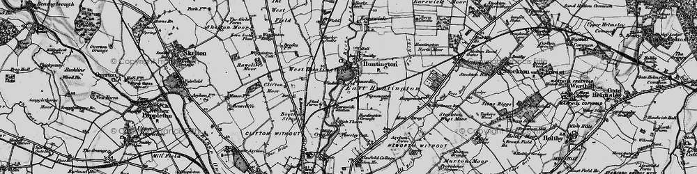Old map of Huntington in 1898