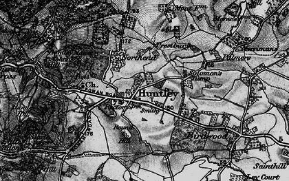 Old map of Huntley in 1896