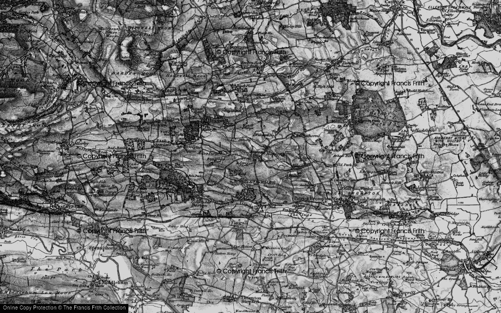 Old Map of Historic Map covering Wyvill Grange in 1897
