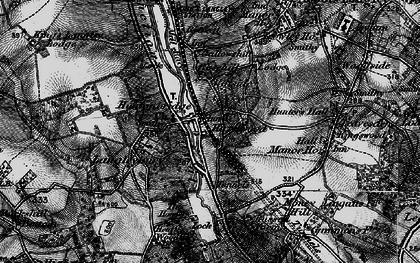 Old map of Hunton Bridge in 1896