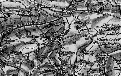 Old map of Bampton Down in 1898