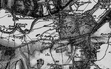 Old map of Hurley in 1895