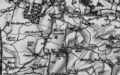 Old map of Hurley in 1899