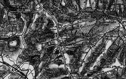 Old map of Swiftsden in 1895