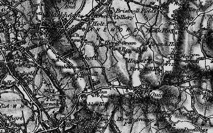 Old map of Hurst Green in 1899