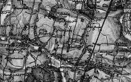 Old map of Woodside Kennels in 1895