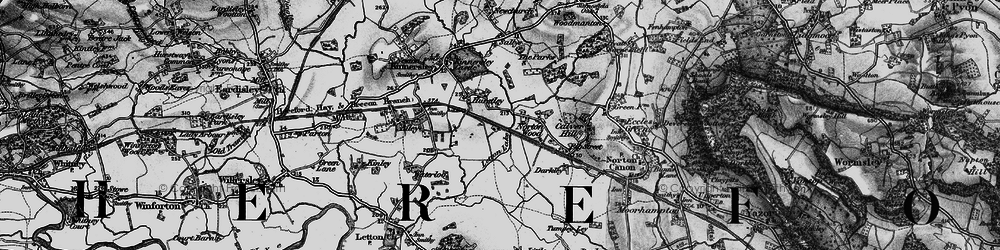 Old map of Ailey in 1898