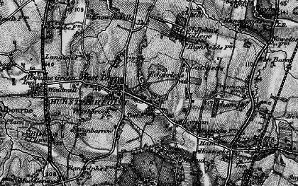 Old map of Hurstpierpoint in 1895