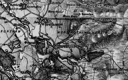 Old map of Worsthorne Moor in 1896