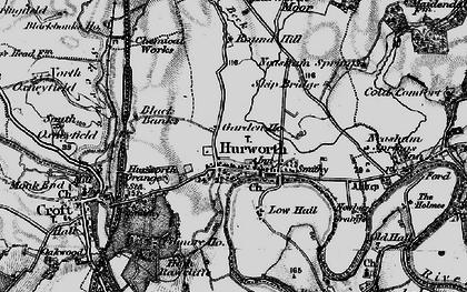Old map of Ashfield in 1897