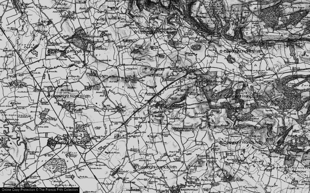 Old Map of Historic Map covering Alford Ho in 1898