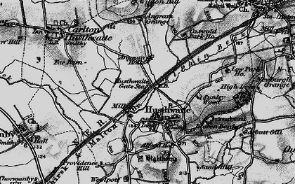 Old map of Acaster Hill in 1898