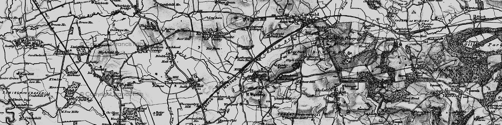 Old map of Alford Ho in 1898