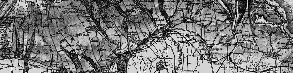 Old map of Yedmandale Woods in 1898