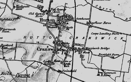 Old map of Hutton Cranswick in 1898