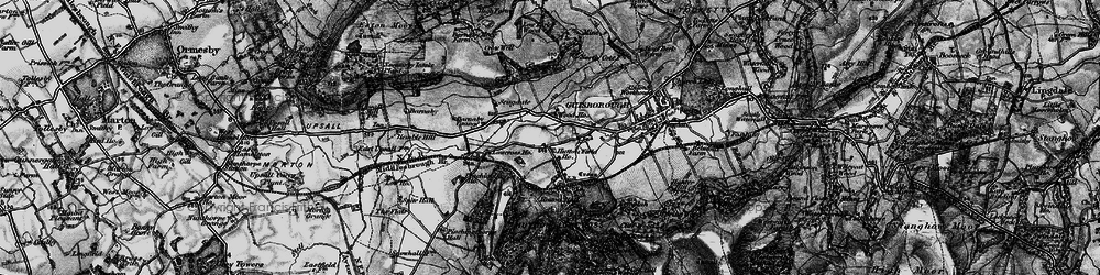 Old map of Hutton Gate in 1898