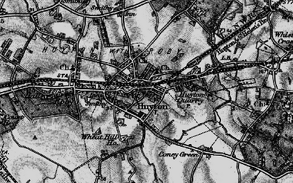 Old map of Huyton Park in 1896